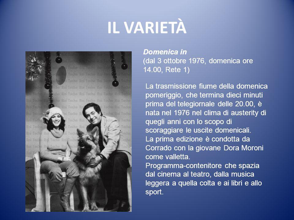 IL VARIETÀ Milleluci (dal 16 marzo 1974, sabato ore 20.40, Programma Nazionale).
