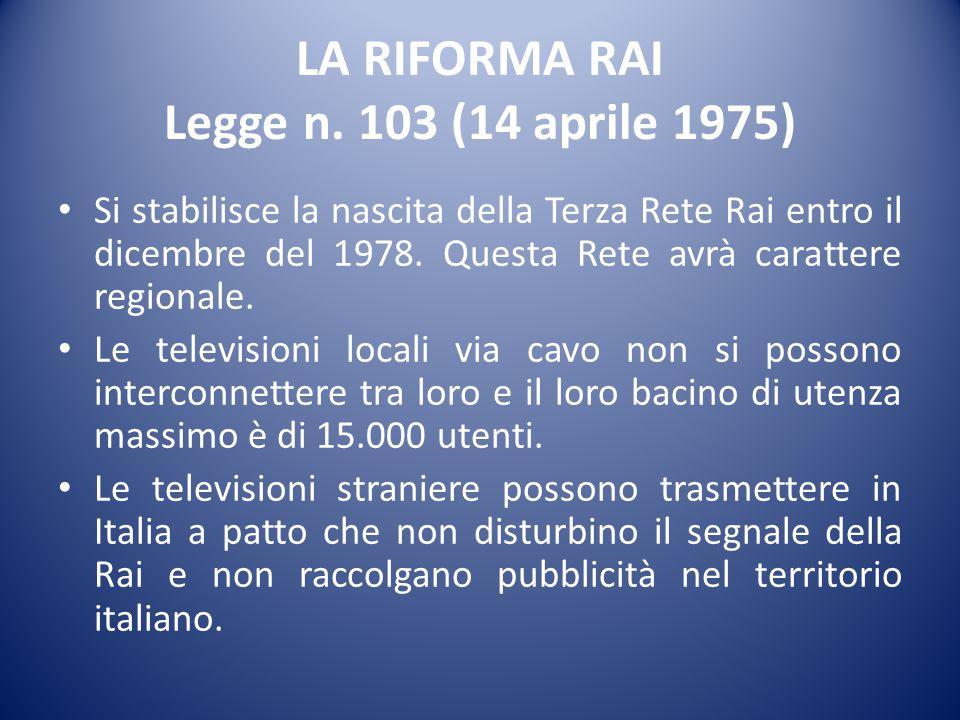 LA RIFORMA RAI Legge n.
