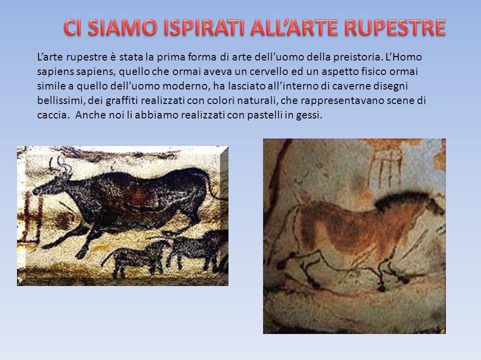 L'arte rupestre è stata la prima forma di arte dell'uomo della preistoria.