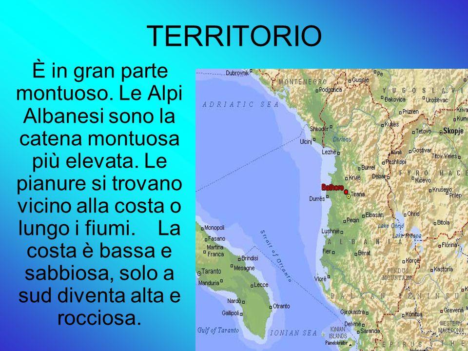 TERRITORIO È in gran parte montuoso.Le Alpi Albanesi sono la catena montuosa più elevata.