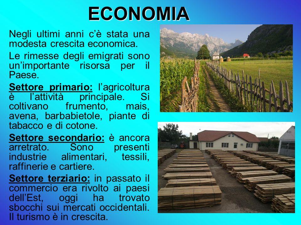 ECONOMIA Negli ultimi anni c'è stata una modesta crescita economica.