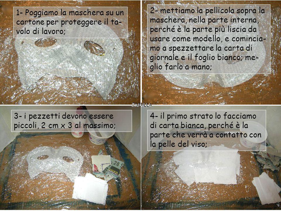 Qualche annotazione prima di proseguire e spiegare la tecnica della cartapesta: - la colla vinilica va diluita: mettete in un contenitore un dito di a