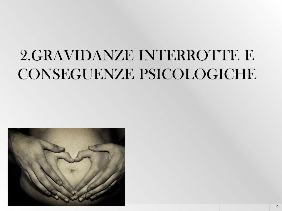 9 2.GRAVIDANZE INTERROTTE E CONSEGUENZE PSICOLOGICHE