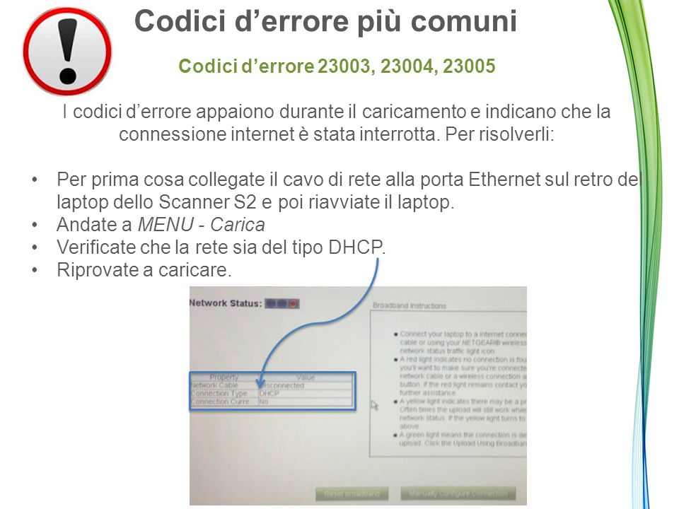 Codici d'errore più comuni Codici d'errore 23003, 23004, 23005 I codici d'errore appaiono durante il caricamento e indicano che la connessione internet è stata interrotta.