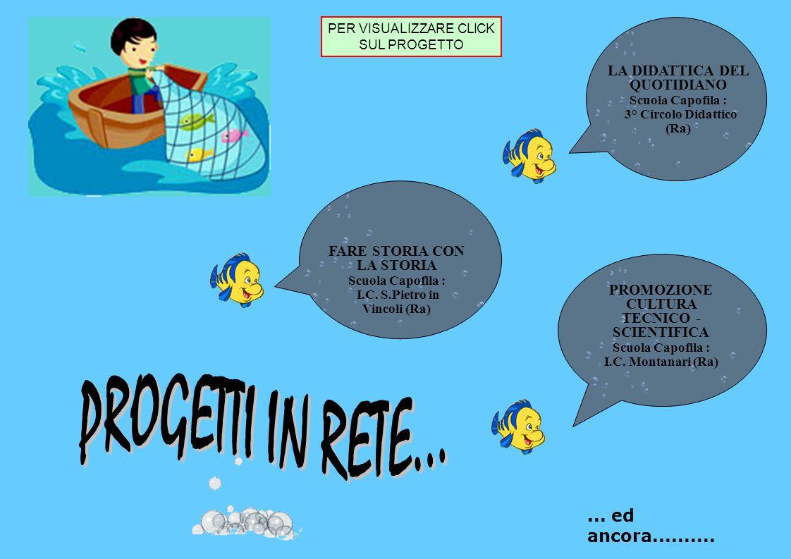 FARE STORIA CON LA STORIA Scuola Capofila : I.C. S.Pietro in Vincoli (Ra) LA DIDATTICA DEL QUOTIDIANO Scuola Capofila : 3° Circolo Didattico (Ra) PROM