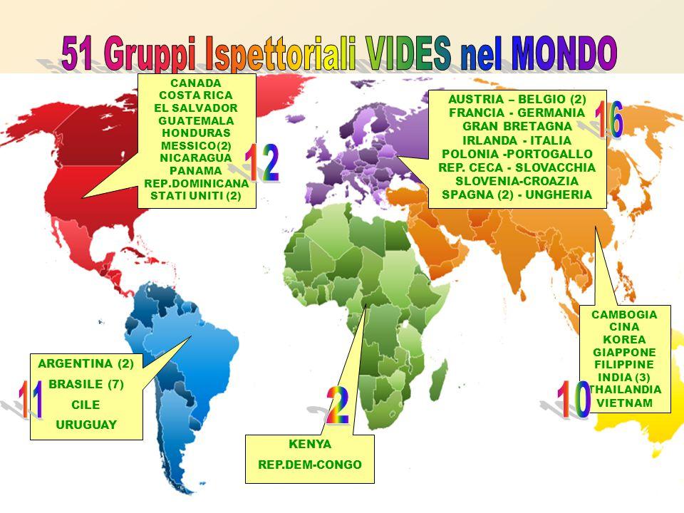 KENYA REP.DEM-CONGO CAMBOGIA CINA KOREA GIAPPONE FILIPPINE INDIA (3) THAILANDIA VIETNAM ARGENTINA (2) BRASILE (7) CILE URUGUAY CANADA COSTA RICA EL SALVADOR GUATEMALA HONDURAS MESSICO(2) NICARAGUA PANAMA REP.DOMINICANA STATI UNITI (2) AUSTRIA – BELGIO (2) FRANCIA - GERMANIA GRAN BRETAGNA IRLANDA - ITALIA POLONIA -PORTOGALLO REP.
