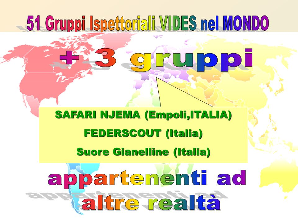 SAFARI NJEMA (Empoli,ITALIA) FEDERSCOUT (Italia) Suore Gianelline (Italia)