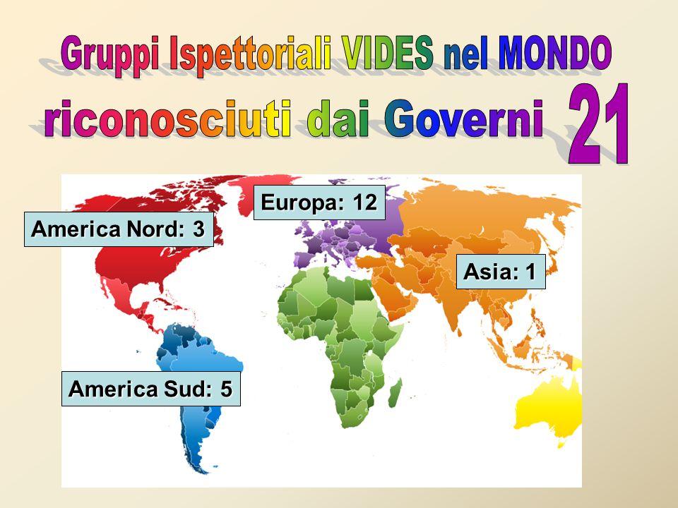 Europa: 12 America Nord: 3 America Sud: 5 Asia: 1