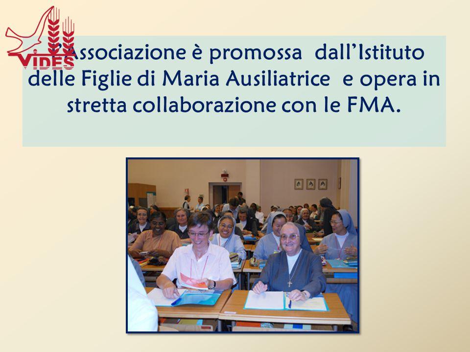 L'Associazione è promossa dall'Istituto delle Figlie di Maria Ausiliatrice e opera in stretta collaborazione con le FMA.