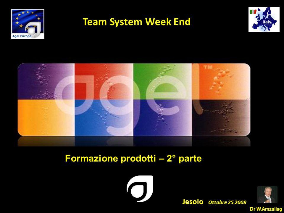 Dr W.Amzallag Jesolo Ottobre 25 2008 5 Team System Week End Formazione prodotti – 2° parte