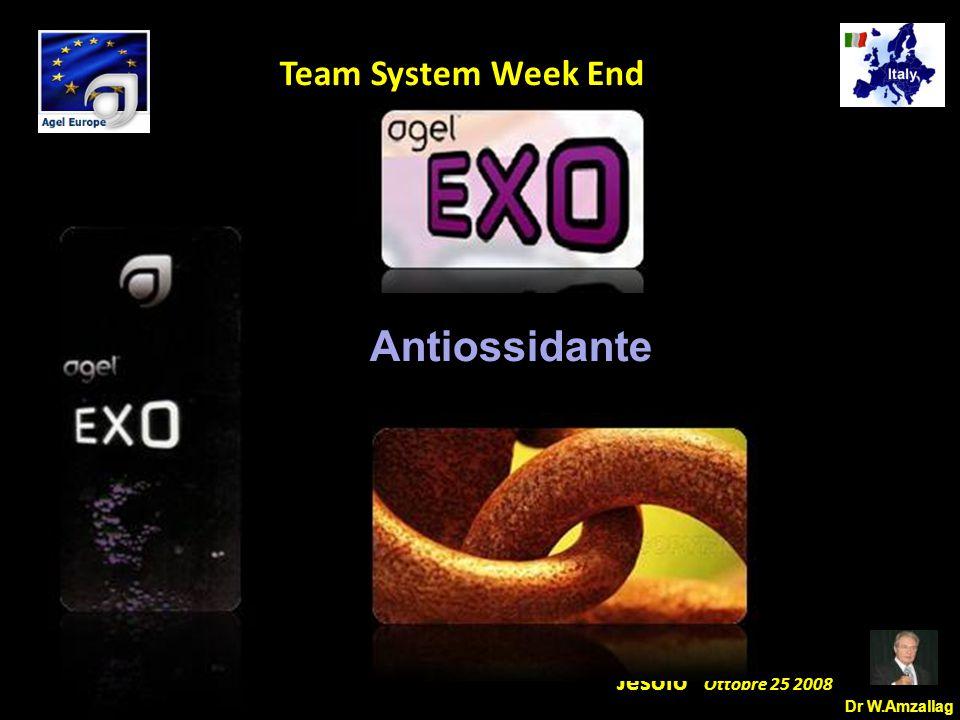 Dr W.Amzallag Jesolo Ottobre 25 2008 5 Team System Week End Il processo di ossidazione Un atomo che perde un elettrone diventa un radicale libero.