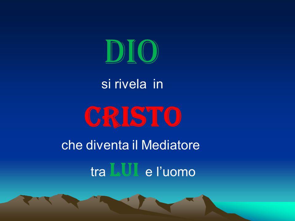 DIO si rivela in CRISTO che diventa il Mediatore tra LUI e l'uomo