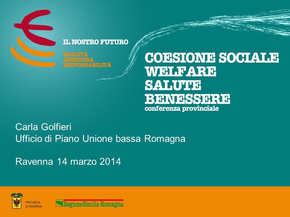 Carla Golfieri Ufficio di Piano Unione bassa Romagna Ravenna 14 marzo 2014
