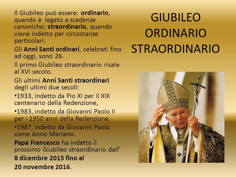 PORTA SANTA L inizio ufficiale del Giubileo avviene con l apertura della porta santa della basilica di San Pietro.