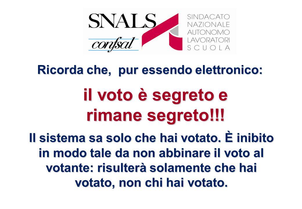 Il sistema sa solo che hai votato. È inibito in modo tale da non abbinare il voto al votante: risulterà solamente che hai votato, non chi hai votato.