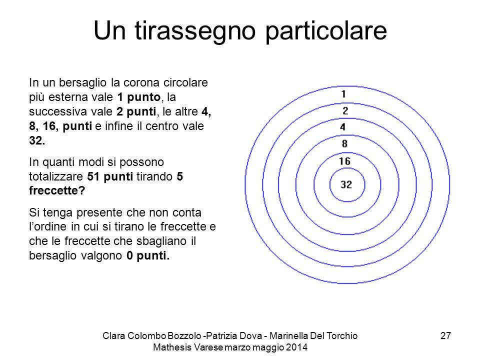 Clara Colombo Bozzolo -Patrizia Dova - Marinella Del Torchio Mathesis Varese marzo maggio 2014 27 Un tirassegno particolare In un bersaglio la corona
