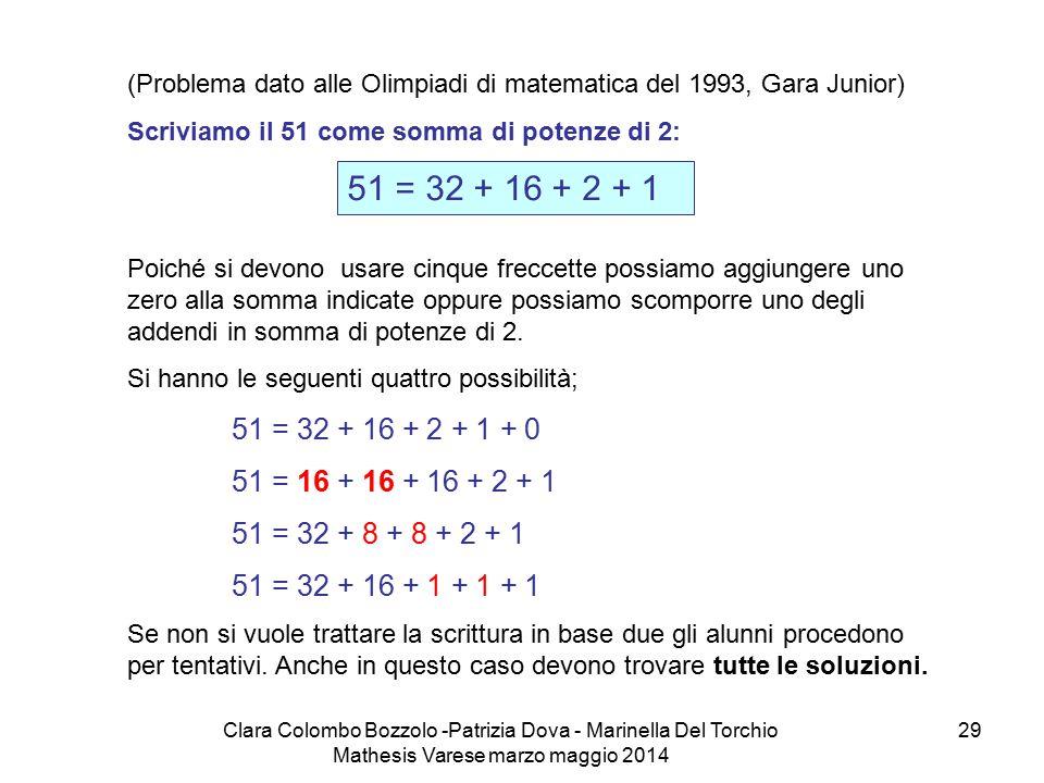 Clara Colombo Bozzolo -Patrizia Dova - Marinella Del Torchio Mathesis Varese marzo maggio 2014 29 (Problema dato alle Olimpiadi di matematica del 1993