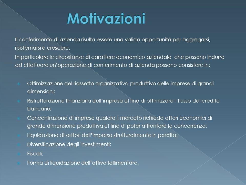 Il conferimento di azienda risulta essere una valida opportunità per aggregarsi, risistemarsi e crescere.