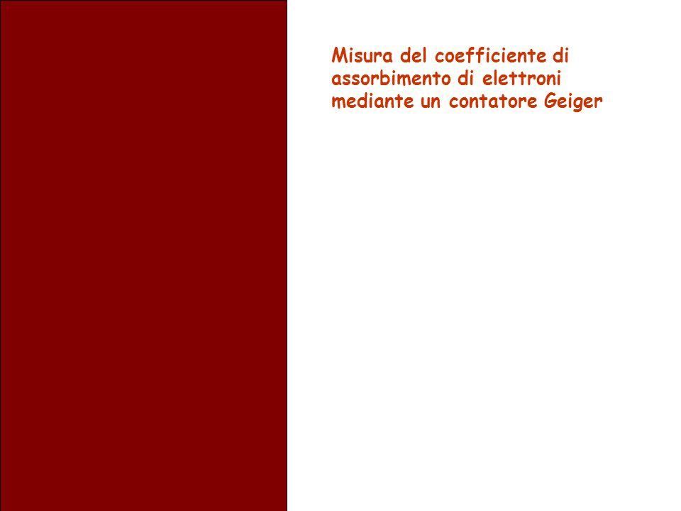 Misura del coefficiente di assorbimento di elettroni mediante un contatore Geiger