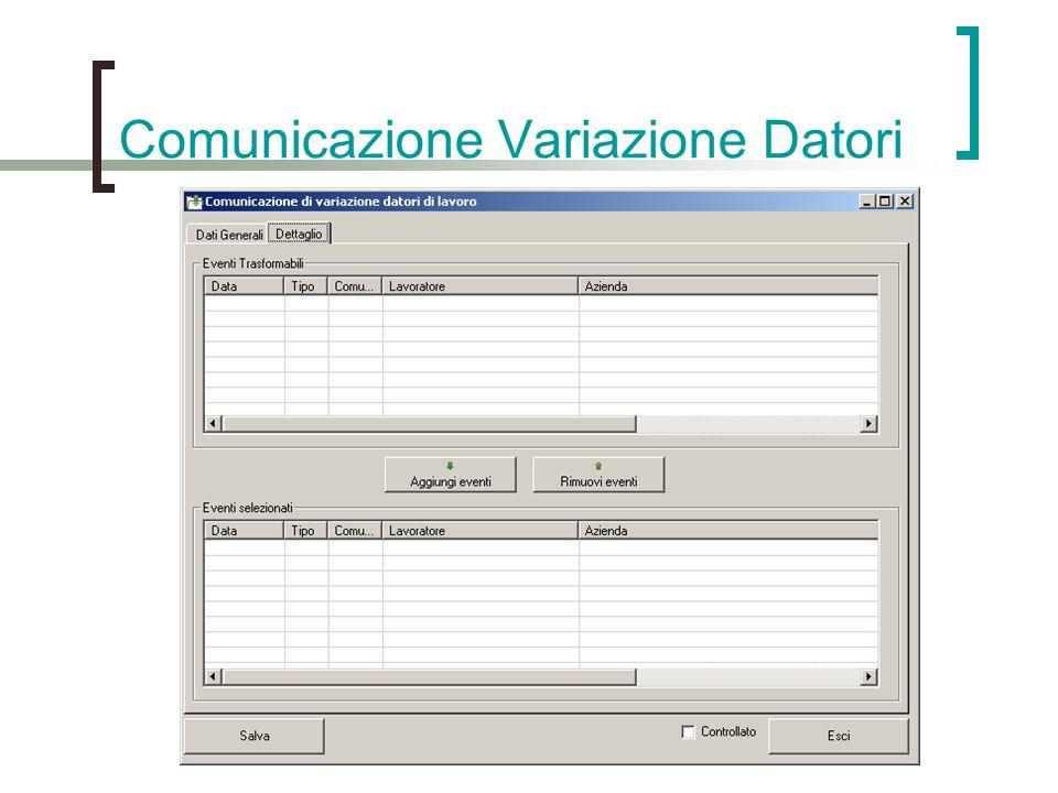 Comunicazione Variazione Datori