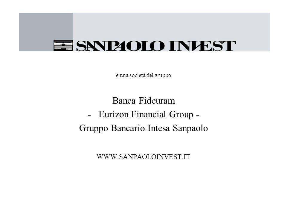 è una società del gruppo Banca Fideuram -Eurizon Financial Group - Gruppo Bancario Intesa Sanpaolo WWW.SANPAOLOINVEST.IT