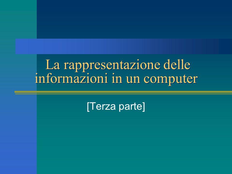La rappresentazione delle informazioni in un computer [Terza parte]