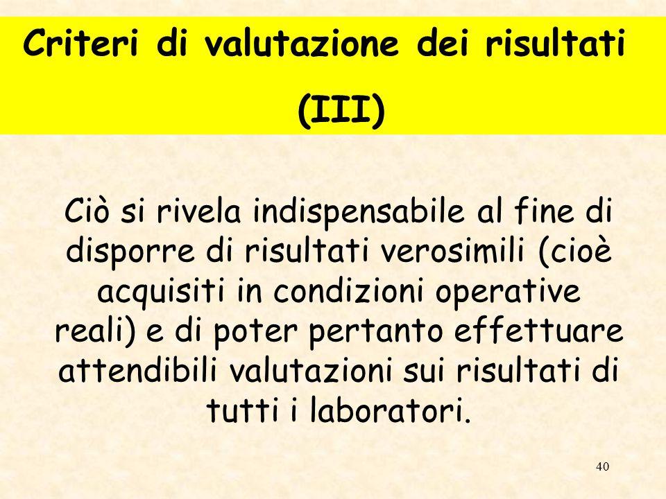 41 I dati comunicati dal fornitore dei materiali di riferimento non sono infatti adeguati per tale tipo di valutazione.