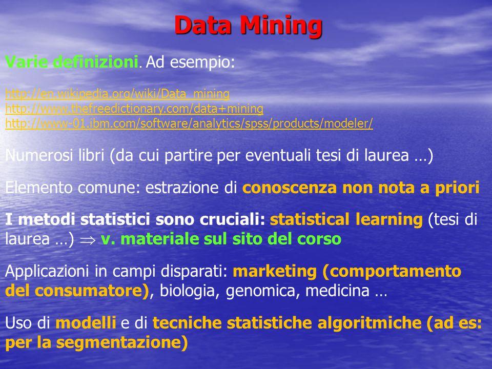 Le prospettive di lavoro non sono scadenti … Generalmente corsi brevi costano (almeno) come un anno di LM … http://www.sas.com/offices/europe/italy/servizi/formazione/corsi/st193.html https://www- 304.ibm.com/services/learning/ites.wss/it/it?pageType=course_description&courseCo de=0E004IT https://www- 304.ibm.com/services/learning/ites.wss/it/it?pageType=course_description&courseCo de=0E004IT http://www.statisticalhorizons.com/seminars/public-seminars/