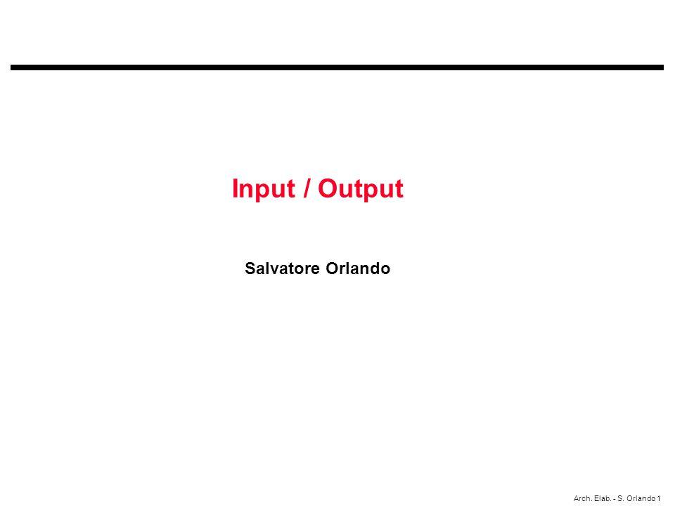 Arch. Elab. - S. Orlando 1 Input / Output Salvatore Orlando
