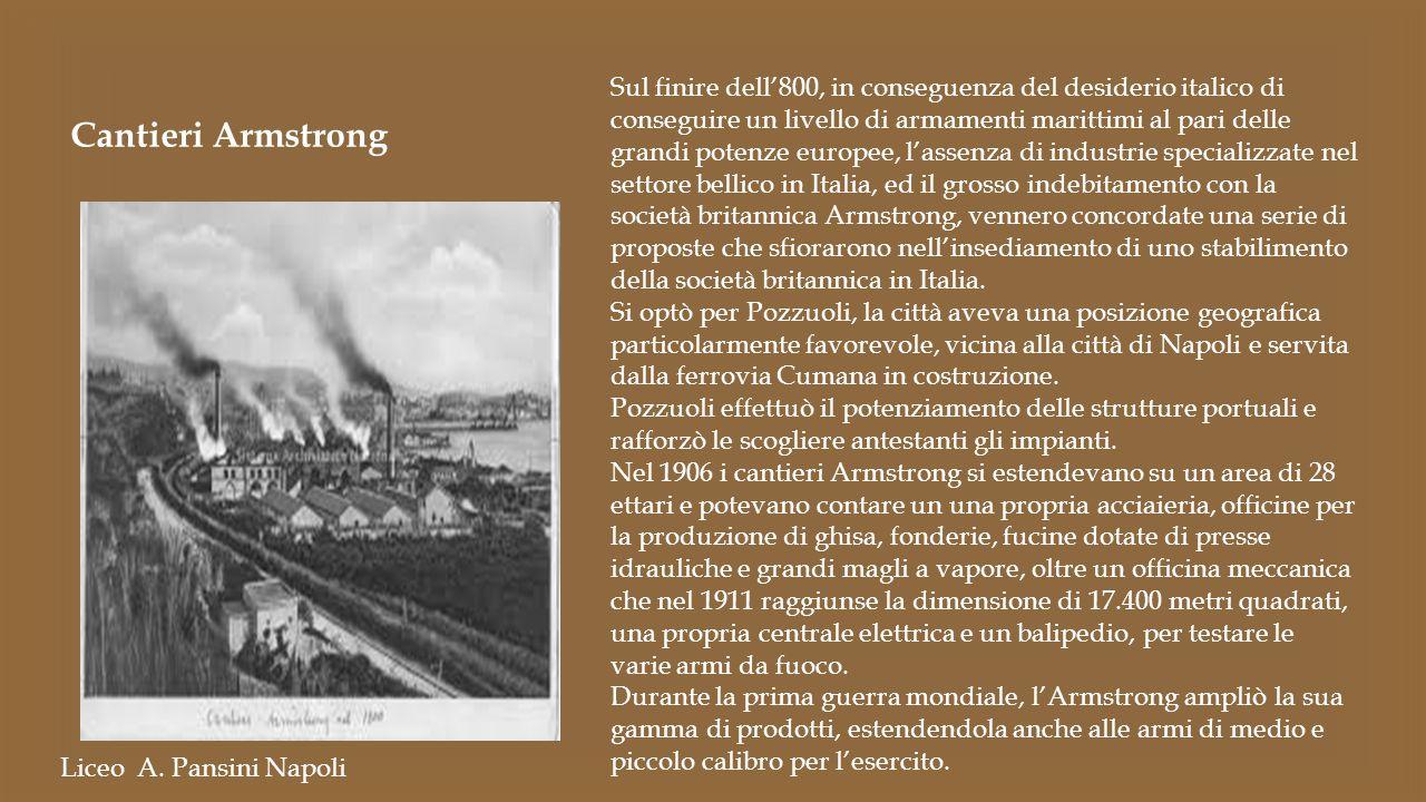 Sul finire dell'800, in conseguenza del desiderio italico di conseguire un livello di armamenti marittimi al pari delle grandi potenze europee, l'asse