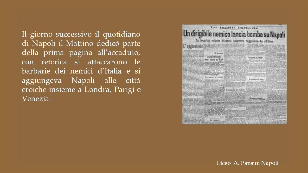Il giorno successivo il quotidiano di Napoli il Mattino dedicò parte della prima pagina all'accaduto, con retorica si attaccarono le barbarie dei nemi