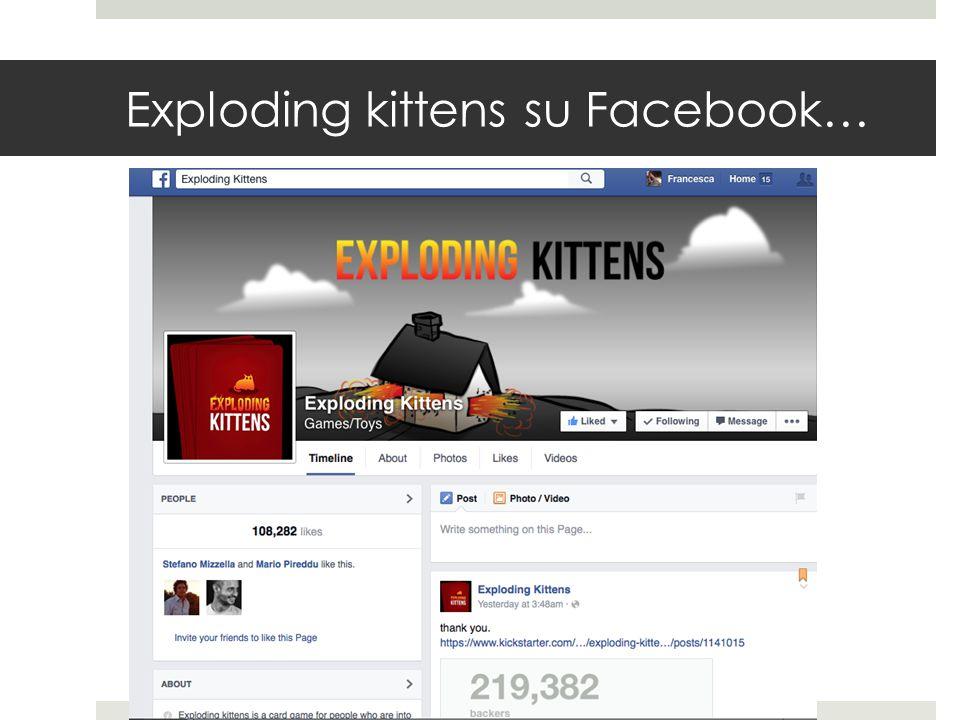 Exploding kittens su Facebook…