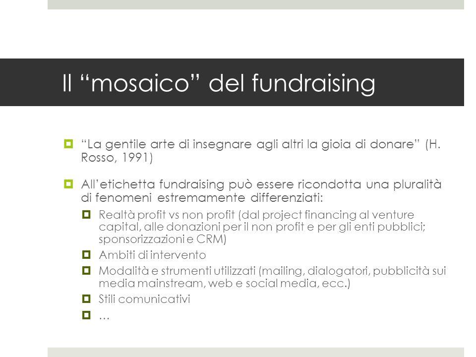 Il mosaico del fundraising  La gentile arte di insegnare agli altri la gioia di donare (H.