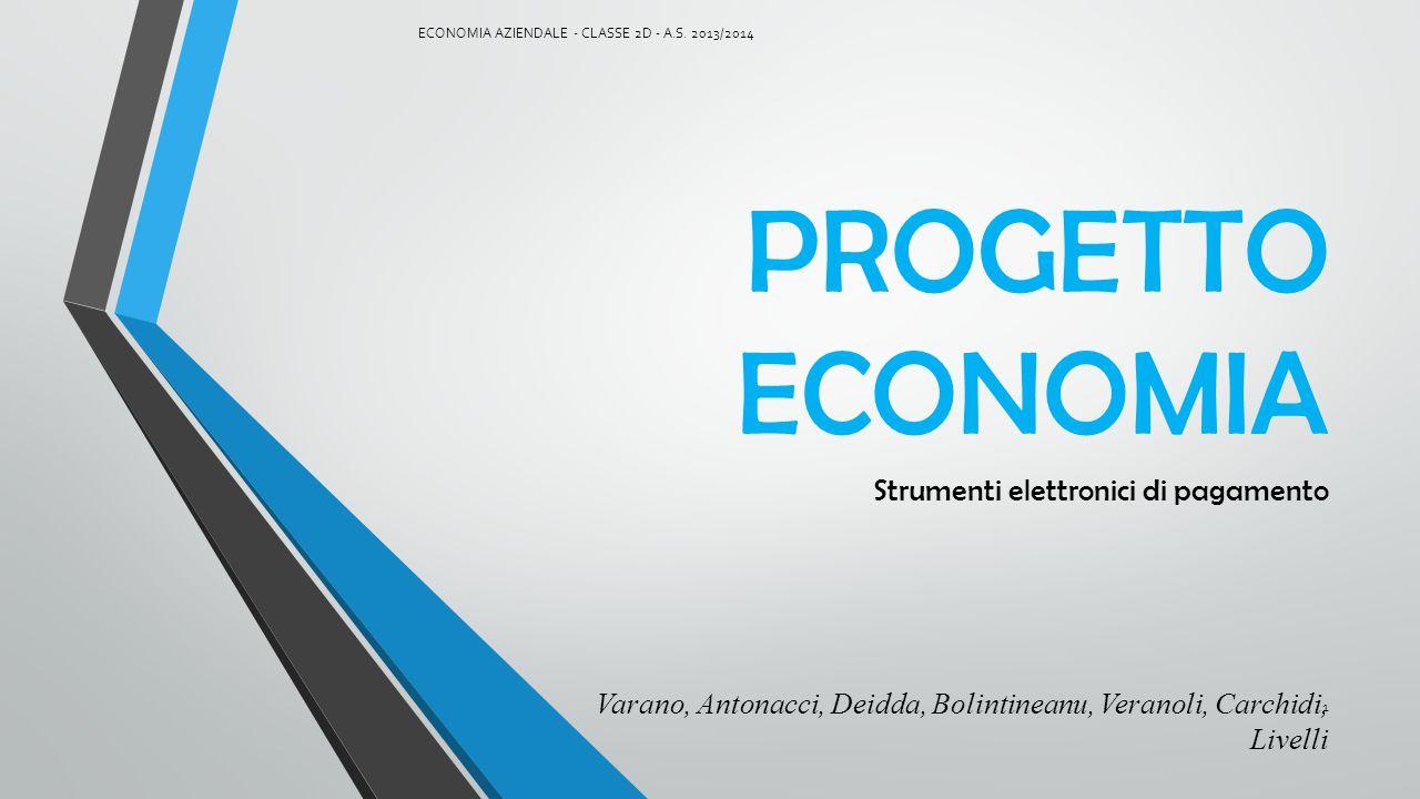 INDICE Servizi Bancari di Incasso Elettronico Plastic Money ECONOMIA AZIENDALE - CLASSE 2D - A.S.