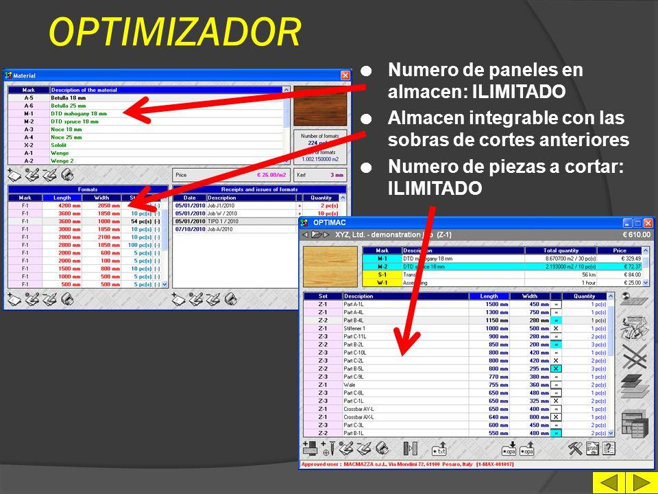 OPCIONAL l Switch ON/OFF para transmisión datos a carga y/o descarga automática