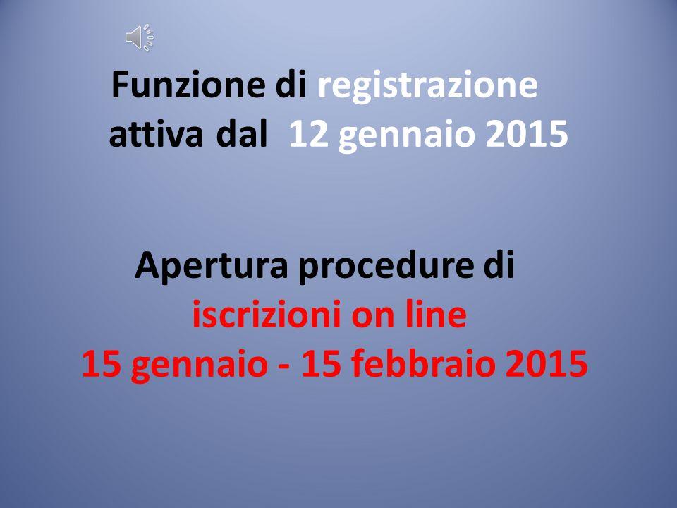 REGISTRAZIONE E' sufficiente registrarsi sul sito del MIUR, all'indirizzo www.iscrizioni.istruzione.it raggiungibile anche dall'home page del MIUR per