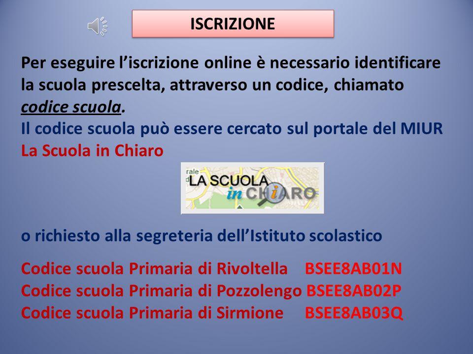 Funzione di registrazione attiva dal 12 gennaio 2015 Apertura procedure di iscrizioni on line 15 gennaio - 15 febbraio 2015