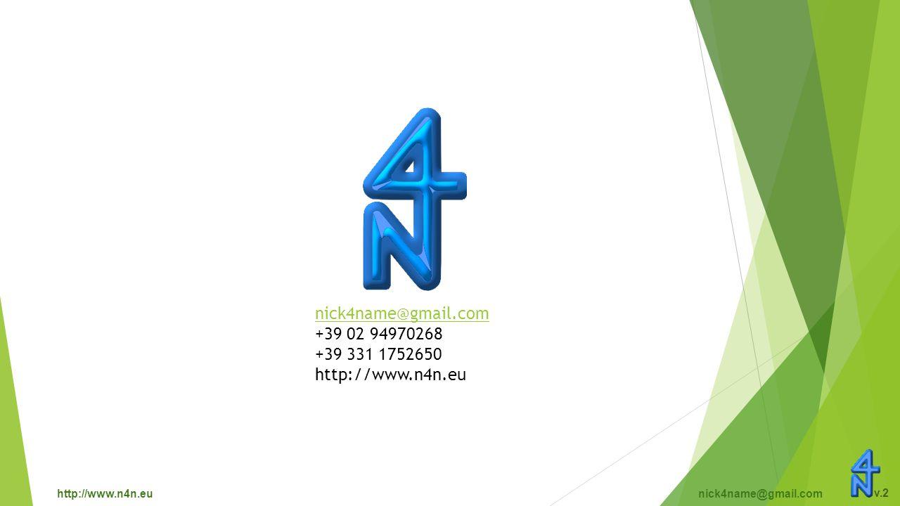 http://www.n4n.eunick4name@gmail.com v.2 nick4name@gmail.com +39 02 94970268 +39 331 1752650 http://www.n4n.eu