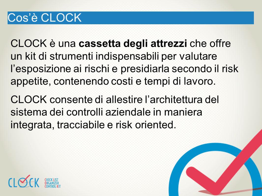 Cos'è CLOCK CLOCK è una cassetta degli attrezzi che offre un kit di strumenti indispensabili per valutare l'esposizione ai rischi e presidiarla second