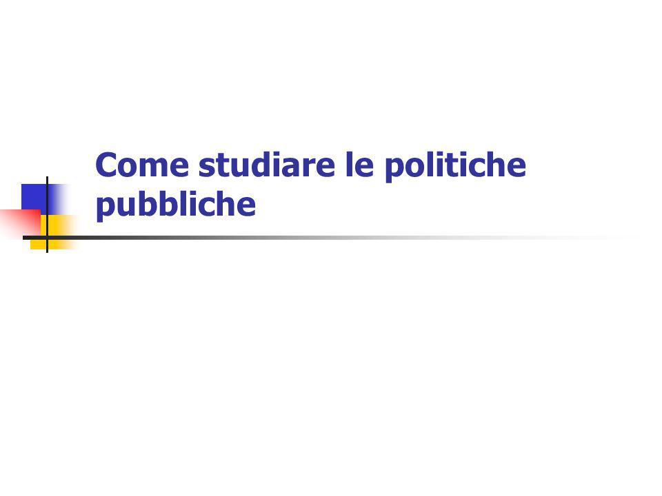 La Public choice: linee generali (1) Estende gli strumenti analitici dell'economia classica alle decisioni non di mercato.