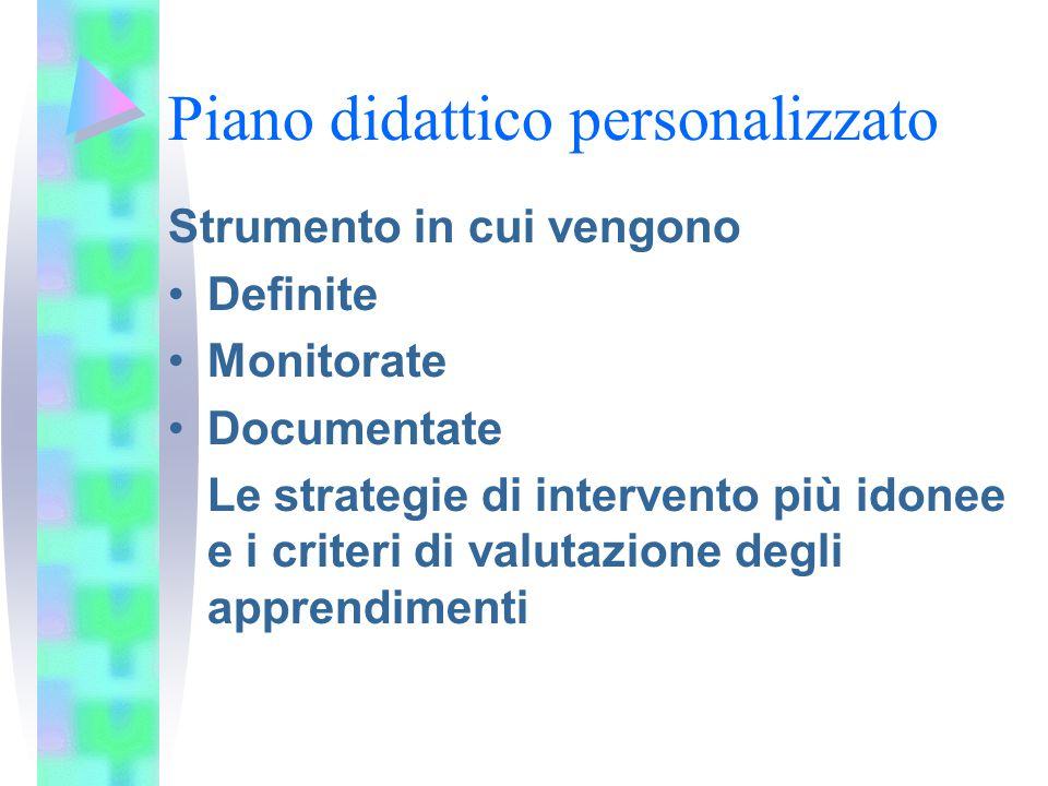 7.Definire attività metodologia Strumenti compensativi e misure dispensative Modalità di verifica Criteri di valutazione