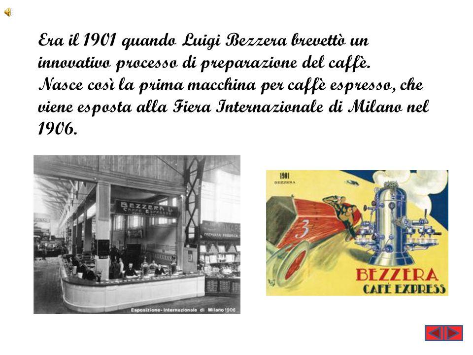 Era il 1901 quando Luigi Bezzera brevettò un innovativo processo di preparazione del caffè. Nasce così la prima macchina per caffè espresso, che viene