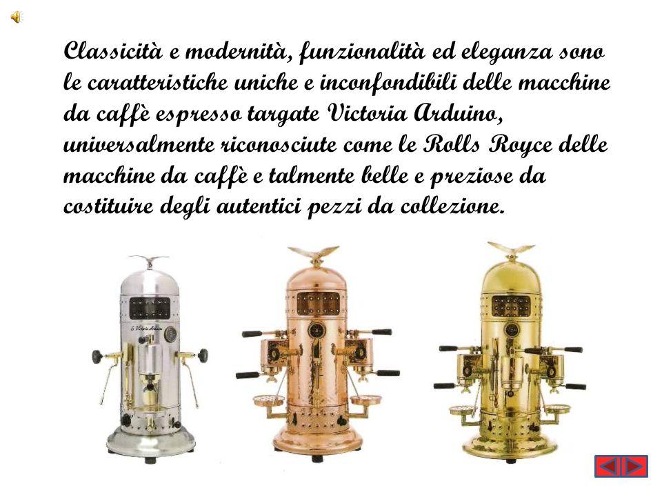 Classicità e modernità, funzionalità ed eleganza sono le caratteristiche uniche e inconfondibili delle macchine da caffè espresso targate Victoria Ard
