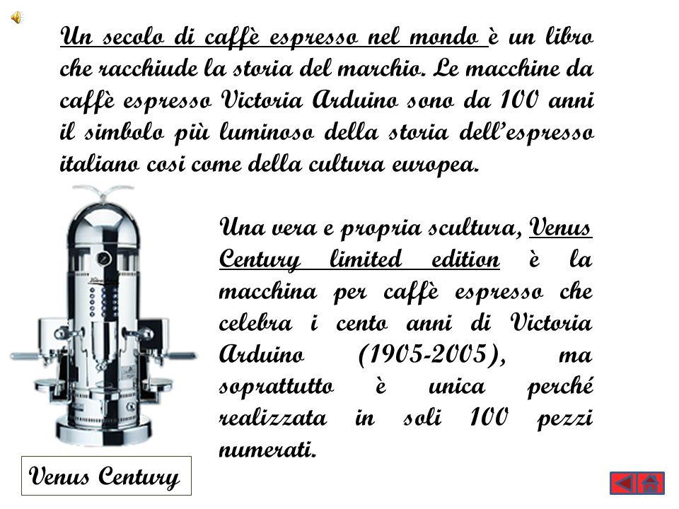 Un secolo di caffè espresso nel mondo è un libro che racchiude la storia del marchio. Le macchine da caffè espresso Victoria Arduino sono da 100 anni