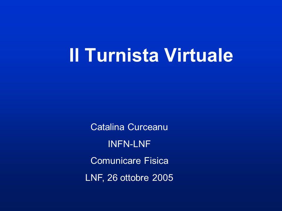 Il Turnista Virtuale Catalina Curceanu INFN-LNF Comunicare Fisica LNF, 26 ottobre 2005