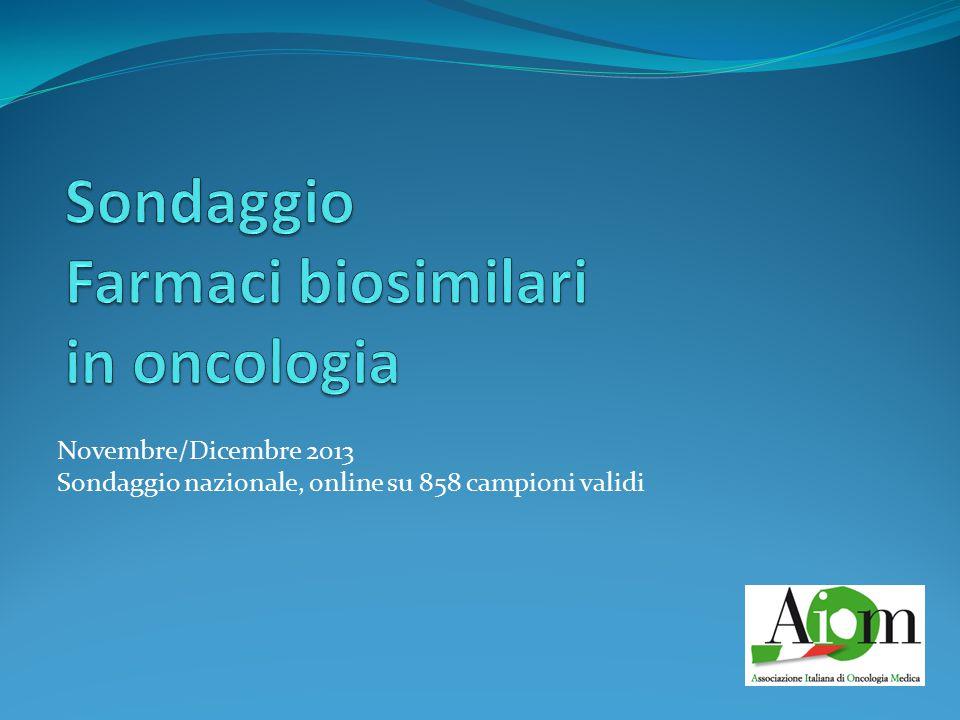 Novembre/Dicembre 2013 Sondaggio nazionale, online su 858 campioni validi