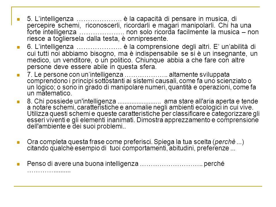 5.L'intelligenza ………………..