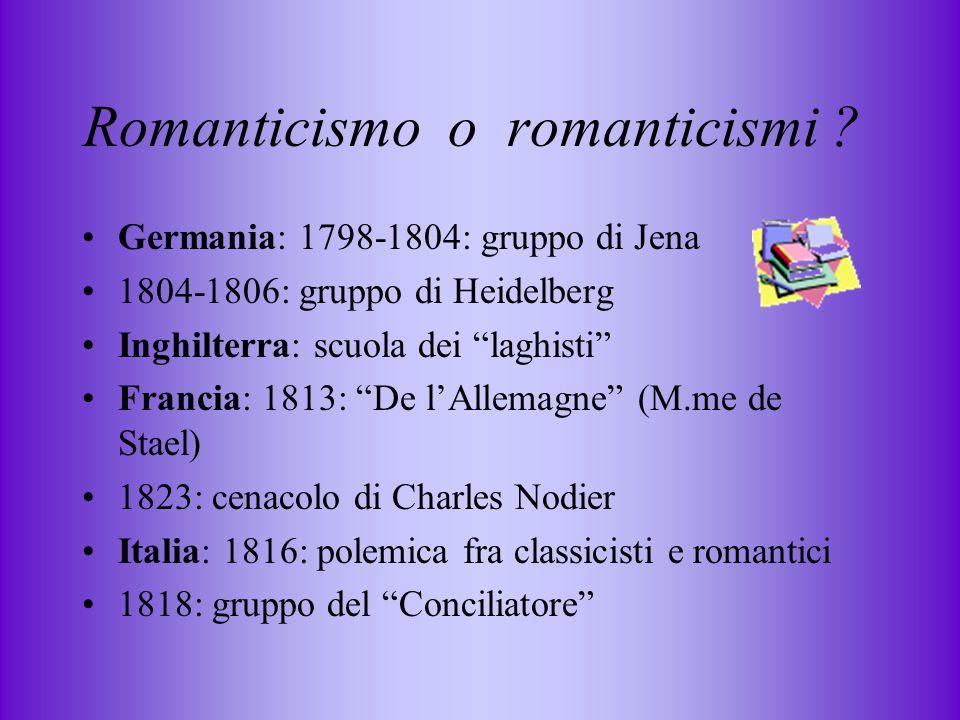 Romanticismo o romanticismi .