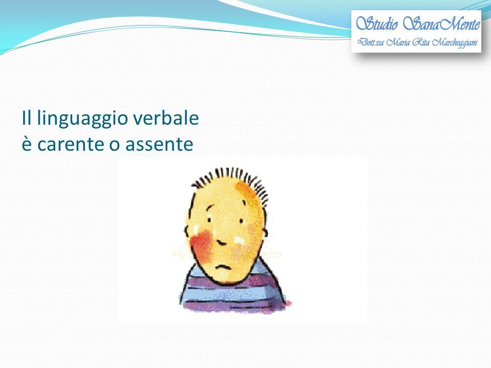 Il linguaggio verbale è carente o assente