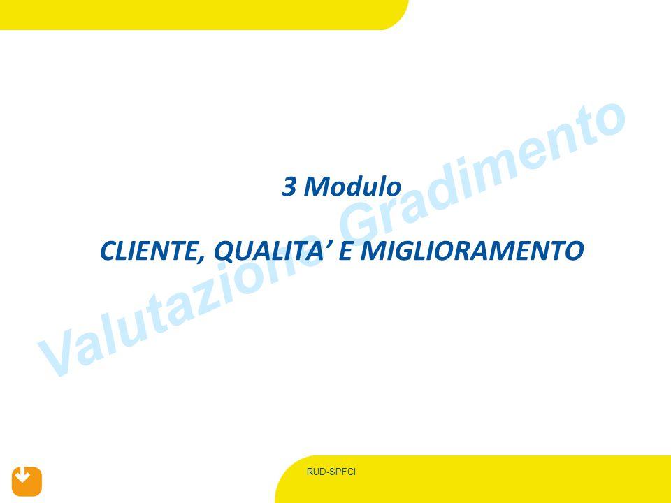 RUD-SPFCI Valutazione Gradimento 3 Modulo CLIENTE, QUALITA' E MIGLIORAMENTO